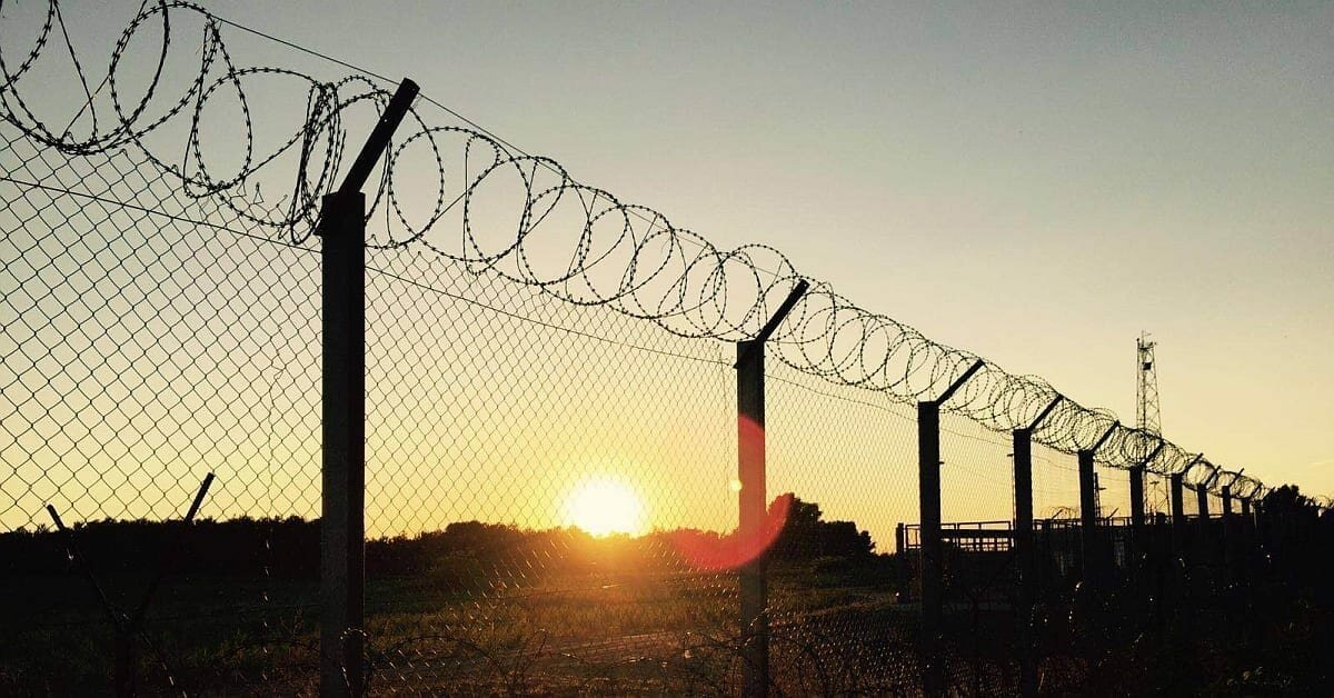 Barbed wire at the Serbian-Hungarian border, photo: Sonia Nandzik ⓒ